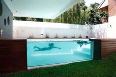 Uhm- AWESOME! Modern Glass Swimming Pool