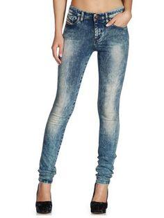DIESEL Super skinny Blue Jeans