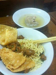 Mie ayam baso,...  Yummy and sexy food