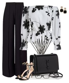 """""""Untitled #6876"""" by lisa-holt ❤ liked on Polyvore featuring Miss Selfridge, Nest Fragrances, Yves Saint Laurent, Ray-Ban and Gianvito Rossi"""