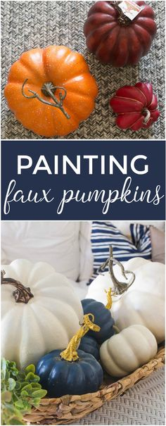 Save money and paint your own pretty white pumpkins! Here's how to do it.