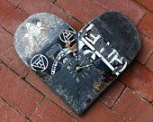 "Skateboard ""Heart"" clock"
