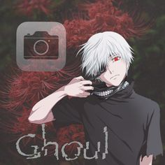 Kaneki, Iphone Wallpaper Tokyo Ghoul, Anime Snapchat, App Anime, Ios App Icon, Animated Icons, App Covers, Phone Icon, Iphone Camera