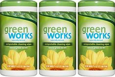 Amazon.com: Green Works Compostable Cleaning Wipes, Original Fresh, 186 Wipes: Health & Personal Care
