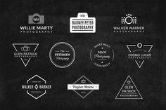 10 Photography Logos Vol. 8 by Piotr Łapa on @creativemarket