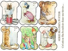 Free Beatrix Potter printable tags your own embroidery thread spools! Love it.