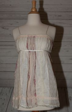 Dolled Up By Fang M, Medium Lace Trim Country Top Blouse Shirt Tunic India  #DolledUpByFANG #Blouse #Casual
