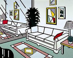 Interior with Mirrored Wall - Roy Lichtenstein 1991