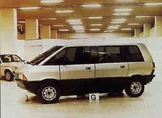OG | 1984 Renault Espace - Matra P16 | Mock-up from June 1979, initially designed by Fergus Pollock then Antoine Volanis