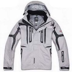 Mens The North Face Triclimate 3 In 1 Jacket Light Gray