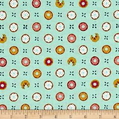 Step into Bake Shop, where you can taste the sugar in the air and you are surrounded by beautiful confections! Designed by Patty Solinger for Michael Miller Fabrics, this cotton print collection features charming baked goods and coordinating prints, from macarons to donuts! From shop fronts, to receipts, spools of thread, and windowpanes. Perfect for quilting, apparel, and home decor accents. Colors include mint green, teal, brown, mustard, pink, and white.