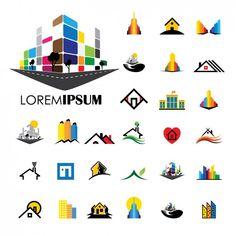 Logo Construction, Building Logo, Building Architecture, House Building, Roofing Logo, City Logo, Barber Logo, Industrial Design Sketch, Web Design