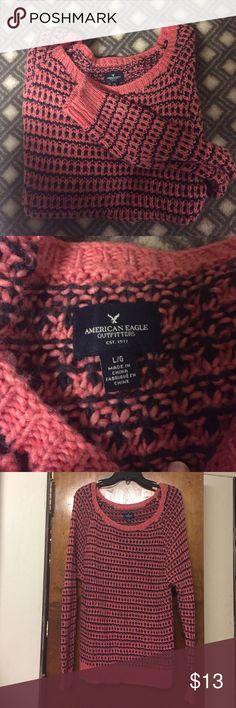 American Eagle Oversized Sweater Very think, warm American Eagle sweater. Worn only a few times, very comfortable. American Eagle Outfitters Sweaters Crew & Scoop Necks