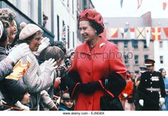 Queen Elizabeth II greets crowds of wellwishers in Scotland , as part of Royal Jubilee Tour, HRH Silver Jubilee celebrations, Tuesday 24th May 1977