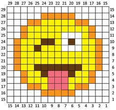 Crazy FaceEmoji is the fifth square in my C2C Crochet Emoji Graphgan! If…