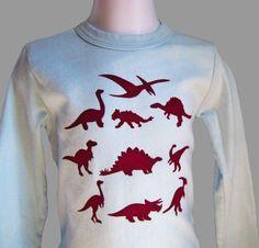 Dinosaur Long Sleeved Kids T Shirt par sevengill sur Etsy, $18.00