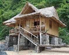 Bamboo houses for green living - go off grid with solar power, cistern or well water and the cost is minimal. http://middleearthhome.com/wp-content/uploads/2010/06/Bamboo-Beach-House-by-notacrime.jpg