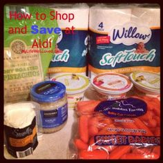 How to Shop & Save at #Aldi. Add in the eMeals' Aldi plan and you've got yourself some MAJOR savings.