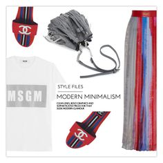 """""""polycool"""" by namelifny1 ❤ liked on Polyvore featuring MSGM, rag & bone, Chanel, Summer, cool and polyvoreeditorial"""