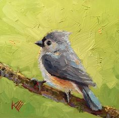 Krista Eaton's Painting A Day: Blue Tufted Titmouse