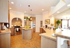 BIG, beautiful island kitchen perfect for meal prepping or serving your freshly cooked dinner! - The Gotham SCWD76F8 by Palm Harbor Homes