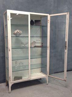 Metal Furniture Antique Ideas Display Cabinets Gl Medical Bathroom Vintage