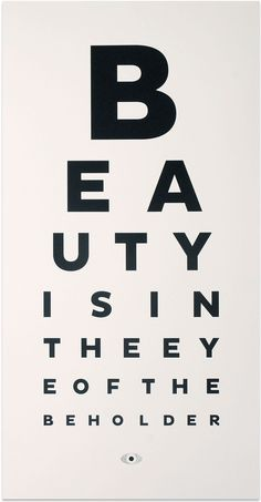TYPOGRAPHIC PRINT |BEAUTY EYE CHART ART | Contemporary Art. Design Gifts. Ideas. | Everything Begins