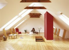 Trand-uri in 2016 in materie de design de interior - Decodelacasa Stairs, Loft, Furniture, Design, Home Decor, Houses, Mansard Roof, Attic, Stairways