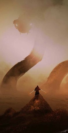 Brave Jedi Knight slaying the Dragon