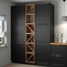 Wine Shelves, Wine Storage, Tall Cabinet Storage, Storage Racks, Floating Shelves, Ikea Wall Shelves, Wine Bar Cabinet, Wall Shelving, Shelving Ideas