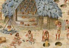 Espacios de vida. La cabaña y su entorno. Cabañas de paredes de barro y varas entrecruzadas, que probablemente estarían cubiertas con troncos y ramaje. Los hogares circulares, delimitados con piedras y  situados en el exterior de las cabañas. Las fosas debieron ser utilizadas, en primera instancia, como depósitos de productos agrícolas y, posteriormente, como basureros.  Neolítico Pleno.