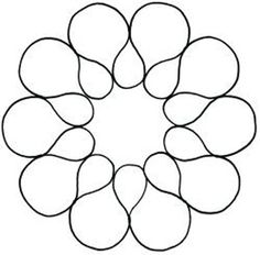 "Free Quilting Stencils | ... : Shop | Category: Quilting Stencils | Product: 5"" Circular Petals"