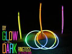 DIY glow in the dark ring toss #game #kid #activity