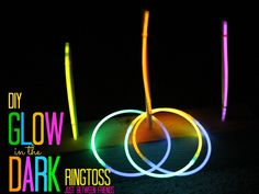 DIY Glow in the Dark Ringtoss (And kids, today we're going to introduce you to Deadmau5 and Infected Mushroom!)