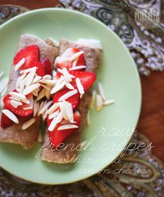 raw banana-flax crepes // can be 'dehydrated' overnight in the oven with the door open. =)