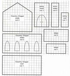 Template for making a Gingerbread House in the shape of a Chapel. Template for making a Gingerbread House in the shape of a Chapel. Homemade Gingerbread House, Cardboard Gingerbread House, Halloween Gingerbread House, Gingerbread House Patterns, Cool Gingerbread Houses, Gingerbread Village, Gingerbread Cookies, Gingerbread House Template Printable, Cake Decorating Magazine