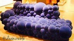 Mueble de esferas morado