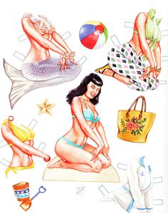 Bettie Page Paper Dolls Betty Page, a Nashville girl.
