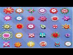 Hand Embroidery Button work,Beaded hand Embroidery with button,Hand Embroidery,बटन कढ़ाई,বুতামের কাজ - YouTube