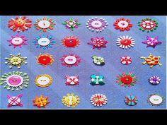 Hand Embroidery Button work,Beaded hand Embroidery with button,Hand Embroidery,बटन कढ़ाई,বুতামের কাজ Basic Embroidery Stitches, Hand Embroidery Videos, Hand Work Embroidery, Embroidery Sampler, Embroidery Patterns Free, Hand Embroidery Designs, Embroidery Techniques, Beaded Embroidery, Modern Embroidery
