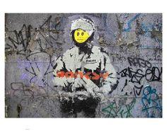 Graffiti by Banksy Arte Banksy, Banksy Art, Bansky, Wall Art Uk, Wall Art Prints, Canvas Prints, Street Art Banksy, Graffiti Wall Art, Banksy Prints