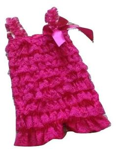 Hot pink lace baby romper
