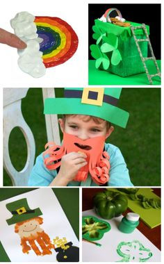 Patrick's Day activities for kids. Crafts, games, experiments, and more! Educational Activities For Kids, Infant Activities, Fun Learning, Preschool Crafts, Kids Crafts, St Patricks Day Crafts For Kids, St Patrick Day Activities, 100 Fun, Crafts To Do