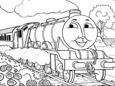 Gorgon The Train Crosses Road Garden Coloring Pages