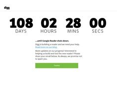 Countdown to July 1st: Let's start talking about Google Reader replacements (Image credit: Digg)