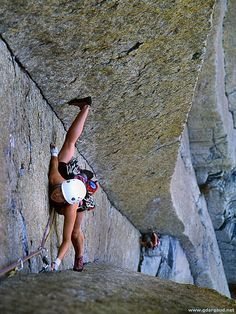 I would be better at doing the splits if I climbed these routes more.