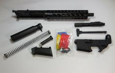 Pistol Kit Quadrail Upper Assembled With Lower - Daytona Tactical 80 Lower Receiver, Quad Rail, Ar15 Pistol, Tactical Guns, Making 10, Firearms, Kit, Tactical Firearms, Weapons