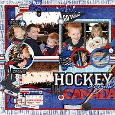 Hockey Night (left) - Scrapbook.com