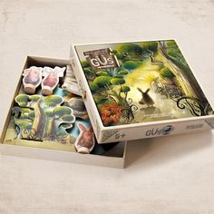 The Wonderful World of Güs - by Marbushka Family Boards, Family Board Games, Fun Board Games, 6 Year Old Christmas Gifts, Perfect Christmas Gifts, Game Card Design, Lets Play A Game, Forest Creatures, Board Games