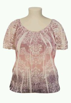 paisley print lace sleeve top 2- maurcies.com